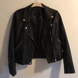 Vegan leather motojacket